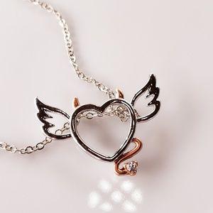 Jewelry - NWT ❊  Naughty/Nice Heart Angel Wings Devil Horns